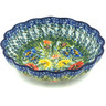 7-inch Stoneware Scalloped Bowl - Polmedia Polish Pottery H8483G