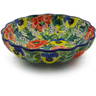 7-inch Stoneware Scalloped Bowl - Polmedia Polish Pottery H9929I