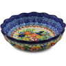 7-inch Stoneware Scalloped Fluted Bowl - Polmedia Polish Pottery H0220I
