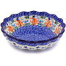 7-inch Stoneware Scalloped Fluted Bowl - Polmedia Polish Pottery H3277C