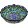 7-inch Stoneware Scalloped Fluted Bowl - Polmedia Polish Pottery H9897K
