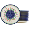 7-inch Stoneware Set of 12 Plates - Polmedia Polish Pottery H1250L