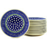 7-inch Stoneware Set of 12 Plates - Polmedia Polish Pottery H2712E
