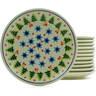 7-inch Stoneware Set of 12 Plates - Polmedia Polish Pottery H4945J