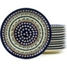 7-inch Stoneware Set of 12 Plates - Polmedia Polish Pottery H5316I