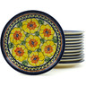 7-inch Stoneware Set of 12 Plates - Polmedia Polish Pottery H5319I
