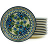 7-inch Stoneware Set of 12 Plates - Polmedia Polish Pottery H5321I