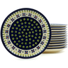 7-inch Stoneware Set of 12 Plates - Polmedia Polish Pottery H5981I