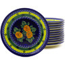 7-inch Stoneware Set of 12 Plates - Polmedia Polish Pottery H8859F