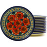 7-inch Stoneware Set of 12 Plates - Polmedia Polish Pottery H8860F