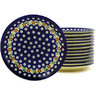 7-inch Stoneware Set of 12 Plates - Polmedia Polish Pottery H8919F
