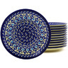 7-inch Stoneware Set of 12 Plates - Polmedia Polish Pottery H8926F