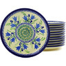 7-inch Stoneware Set of 12 Plates - Polmedia Polish Pottery H8933F
