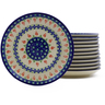 7-inch Stoneware Set of 12 Plates - Polmedia Polish Pottery H9991J