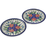 7-inch Stoneware Set of 2 Plates - Polmedia Polish Pottery H0648L