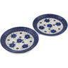 7-inch Stoneware Set of 2 Plates - Polmedia Polish Pottery H0649L