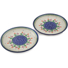 7-inch Stoneware Set of 2 Plates - Polmedia Polish Pottery H0650L