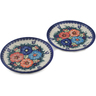 7-inch Stoneware Set of 2 Plates - Polmedia Polish Pottery H0651L