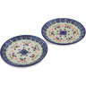 7-inch Stoneware Set of 2 Plates - Polmedia Polish Pottery H0654L