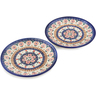 7-inch Stoneware Set of 2 Plates - Polmedia Polish Pottery H1261L