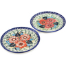 7-inch Stoneware Set of 2 Plates - Polmedia Polish Pottery H1262L