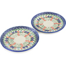 7-inch Stoneware Set of 2 Plates - Polmedia Polish Pottery H1263L