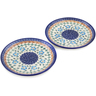 7-inch Stoneware Set of 2 Plates - Polmedia Polish Pottery H1264L