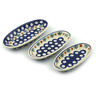 7-inch Stoneware Set of 3 Nesting Condiment Dishes - Polmedia Polish Pottery H5989I