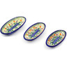 7-inch Stoneware Set of 3 Nesting Condiment Dishes - Polmedia Polish Pottery H9641F