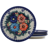 7-inch Stoneware Set of 4 Plates - Polmedia Polish Pottery H0656L
