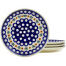 7-inch Stoneware Set of 4 Plates - Polmedia Polish Pottery H5555K