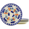 7-inch Stoneware Set of 4 Plates - Polmedia Polish Pottery H5557K