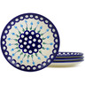7-inch Stoneware Set of 4 Plates - Polmedia Polish Pottery H6013K