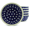 7-inch Stoneware Set of 6 Bowls - Polmedia Polish Pottery H5317J