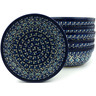 7-inch Stoneware Set of 6 Bowls - Polmedia Polish Pottery H5327I
