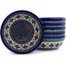 7-inch Stoneware Set of 6 Bowls - Polmedia Polish Pottery H6612E