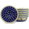 7-inch Stoneware Set of 6 Bowls - Polmedia Polish Pottery H6660E