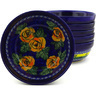 7-inch Stoneware Set of 6 Bowls - Polmedia Polish Pottery H8964F