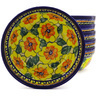 7-inch Stoneware Set of 6 Bowls - Polmedia Polish Pottery H8985F