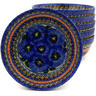 7-inch Stoneware Set of 6 Bowls - Polmedia Polish Pottery H8986F