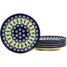 7-inch Stoneware Set of 6 Plates - Polmedia Polish Pottery H2709E