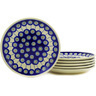 7-inch Stoneware Set of 6 Plates - Polmedia Polish Pottery H3077E