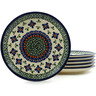 7-inch Stoneware Set of 6 Plates - Polmedia Polish Pottery H5309I
