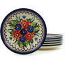 7-inch Stoneware Set of 6 Plates - Polmedia Polish Pottery H5311I