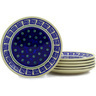 7-inch Stoneware Set of 6 Plates - Polmedia Polish Pottery H6607E