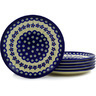 7-inch Stoneware Set of 6 Plates - Polmedia Polish Pottery H6608E