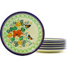 7-inch Stoneware Set of 6 Plates - Polmedia Polish Pottery H8827F