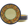 7-inch Stoneware Set of 6 Plates - Polmedia Polish Pottery H8842F
