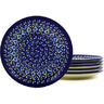 7-inch Stoneware Set of 6 Plates - Polmedia Polish Pottery H8845F