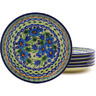 7-inch Stoneware Set of 6 Plates - Polmedia Polish Pottery H8909F